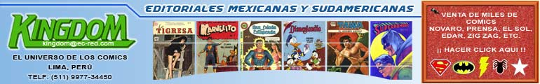 Comics de la Editorial Novaro en Venta, Catalogo 2007-2008